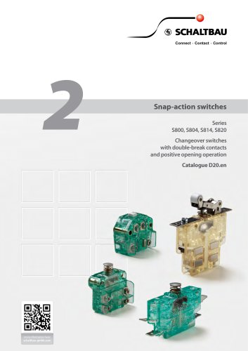 Snap-action switches Series S800,S804,S814,S820
