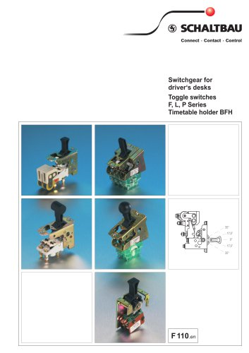 Toggle switch assemblies for driver's desks F, L, P