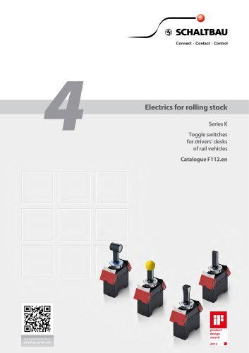 Toggle switches for driver's desks of rail vehicles K