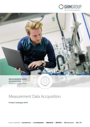GHM Measurement data acquisition product catalog 2019