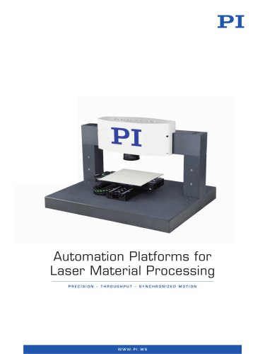 Automation Platforms for Laser Material Processing
