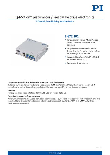 E-872.401 Q-Motion® piezomotor / PiezoMike drive electronics