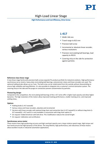High-Load Linear Stage - L-417