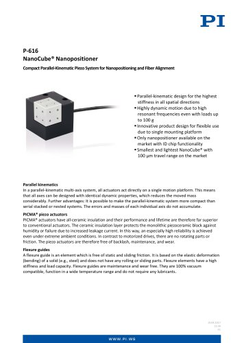 P-616 NanoCube® Nanopositioner