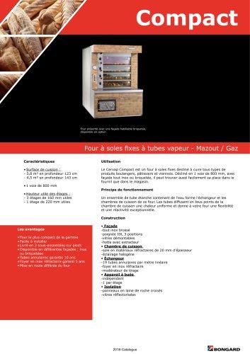 Compact Four à soles fixes à tubes vapeur - Mazout / Gaz