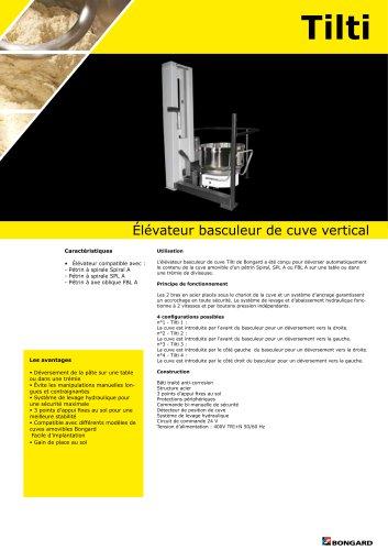 Élévateur basculeur de cuve vertical