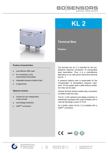 KL 2terminal box plastics