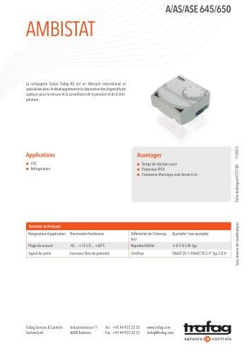 Fiche technique A/AS/ASE 645/650