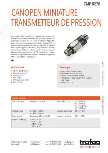 Fiche technique CMP 8270