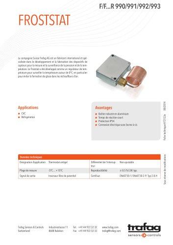 Fiche technique F/F...R 990/991/992/993