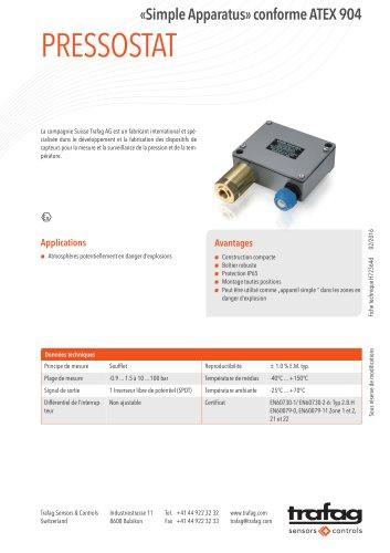 Fiche technique «Simple Apparatus» conformity to ATEX 904