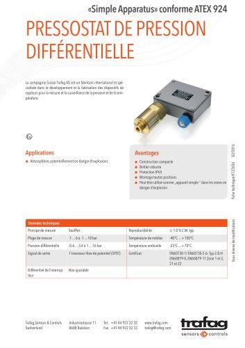 Fiche technique «Simple Apparatus» conformity to ATEX 924
