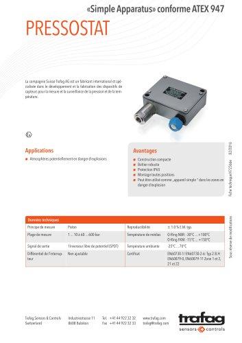 Fiche technique «Simple Apparatus» conformity to ATEX 947
