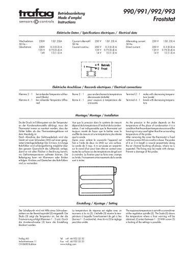 Mode d'emploi F/F...R 990/991/992/993