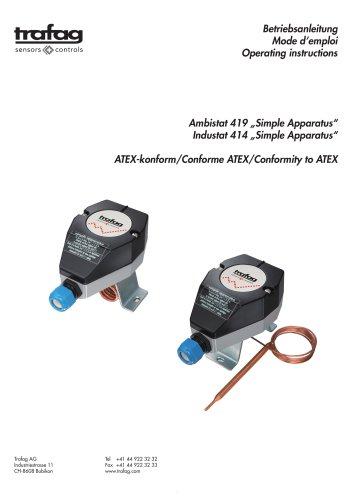Mode d'emploi «Simple Apparatus» conformity to ATEX 414