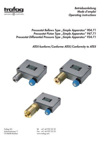 Mode d'emploi «Simple Apparatus» conformity to ATEX 947