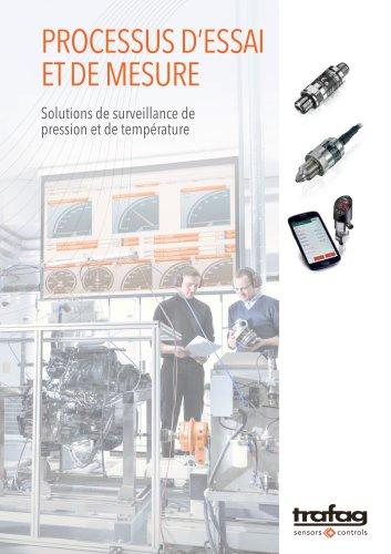 PROCESSUS D'ESSAI ET DE MESURE - Solutions de surveillance de pression et de température