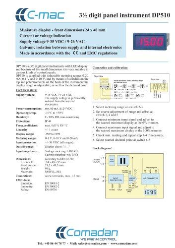 3 1/2 digit panel instrument DP510