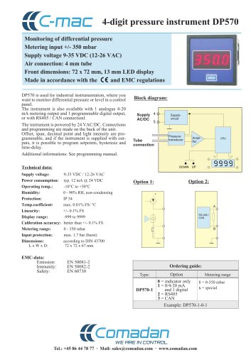 4-digit pressure instrument DP570