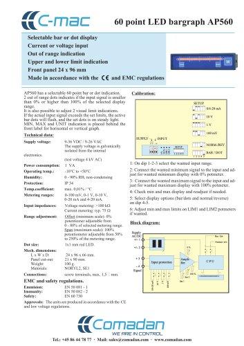 60 point LED bargraph AP560