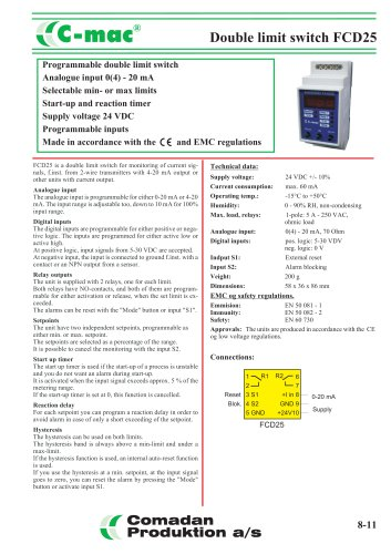 FCD25 programmable double limit switch