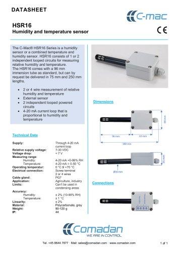 HSR16 Humidity and temperature sensor