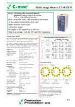 RT40/RT41, Multi range timers
