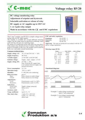 RV20, voltage relay