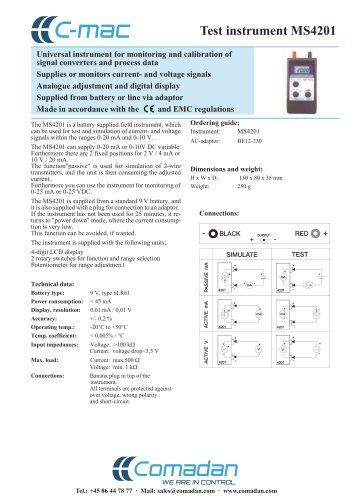 Test instrument MS4201