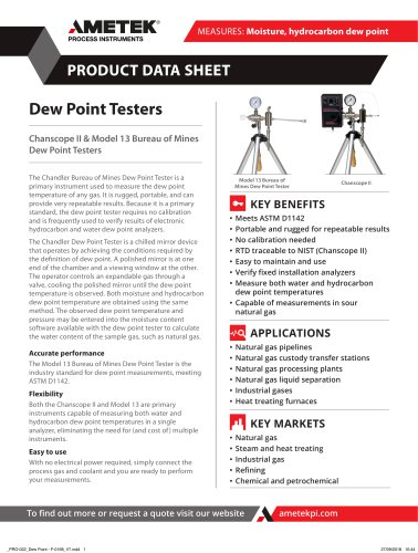 Dew Point Testers
