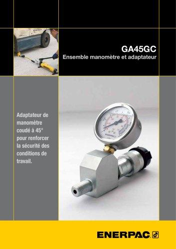 GA45GC Ensemble manomètre et adapteur