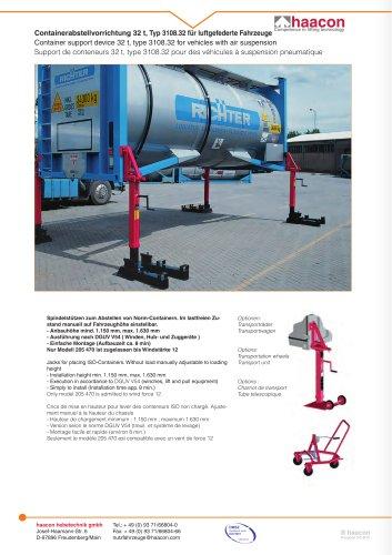 Support de conteneur 32 t
