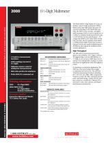2000 Series: 6½-Digital Multimeter with Scanning
