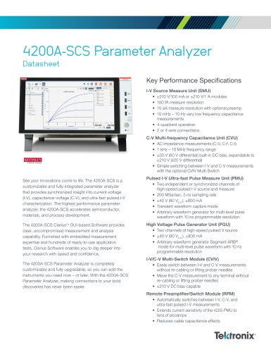 4200A-SCS Parameter Analyzer