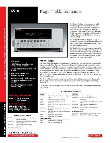 6514 Programmable Electrometer