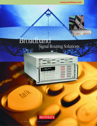 Broadband Signal Routing Solutions Brochure