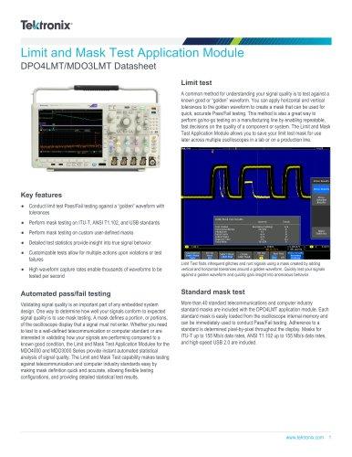 DPO4LMT/MDO3LMT Datasheet