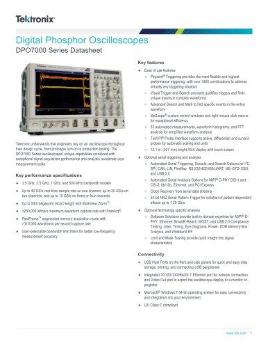 DPO7000 Series Datasheet