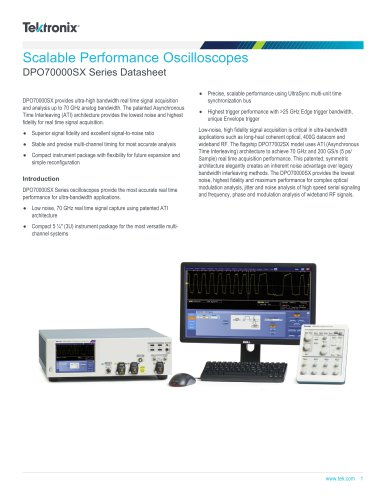 DPO70000SX Series Datasheet
