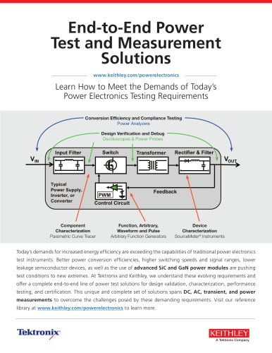 End-to-End Power Test and Measurement Solutions