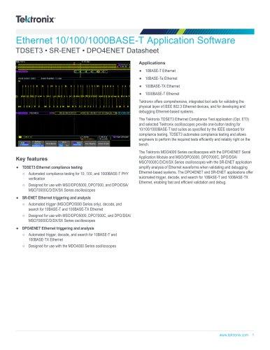 Ethernet 10/100/1000BASE-T Application Software