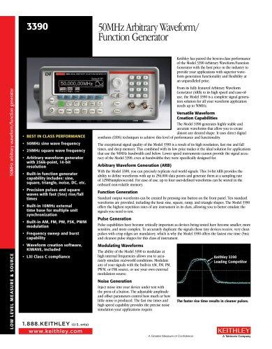 Model 3390 50MHz Arbitrary Waveform/Function Generator