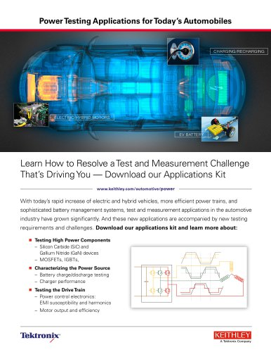 Power Testing Applications for Today's Automobiles