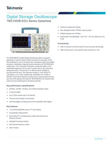 TBS1000B-EDU Series