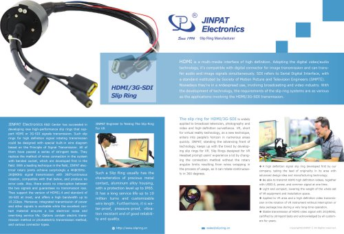 JINAPT new HDMI Slip Ring