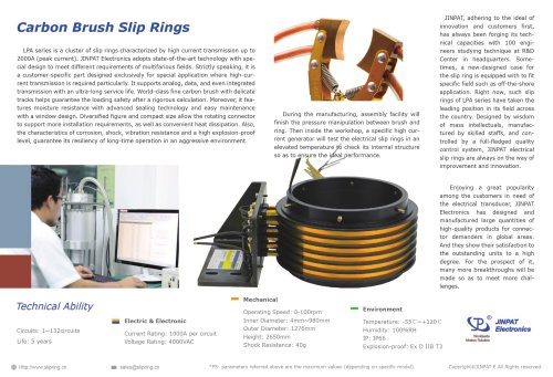JINPAT Carbon Brush Slip Ring