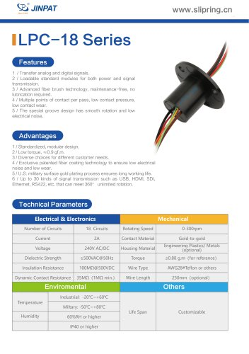LPC-18 Series Capsule Slip Ring
