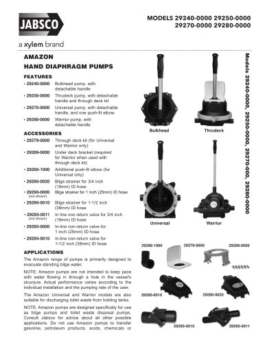 AMAZON MANUAL BILGE PUMPS