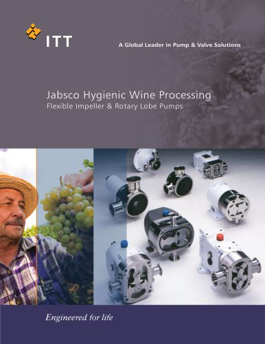 Jabsco Flexible Impeller Wine Brochure