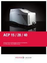 Pompes Roots multi-étagées sèches et compactes - ACP 15 / 28 / 40
